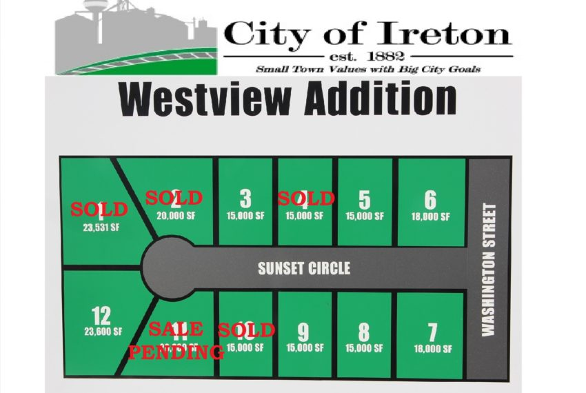 West View Lots SOLD & PENDING